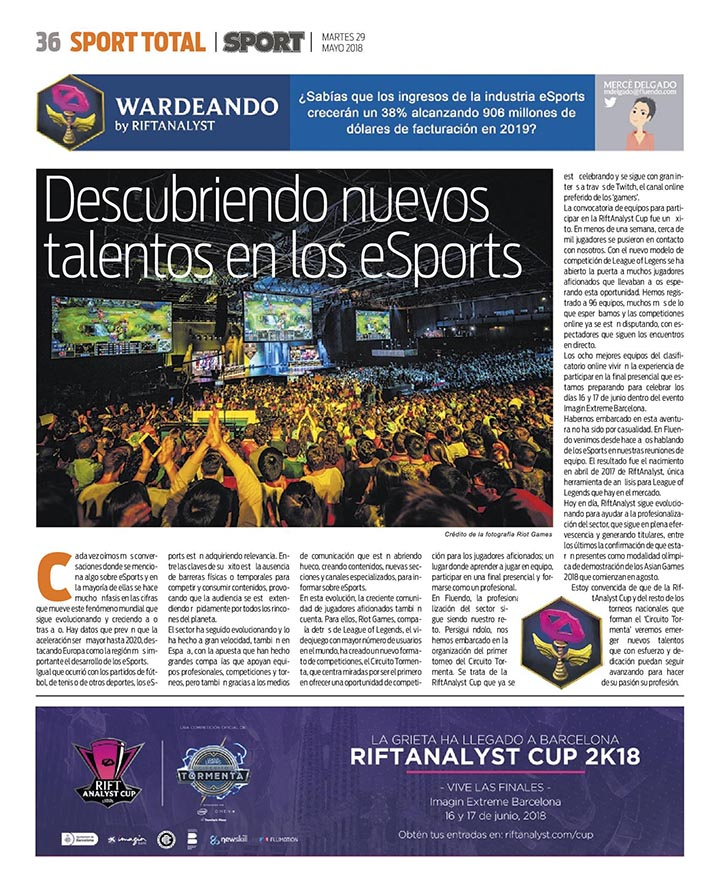 New section on eSports in Diario Sport